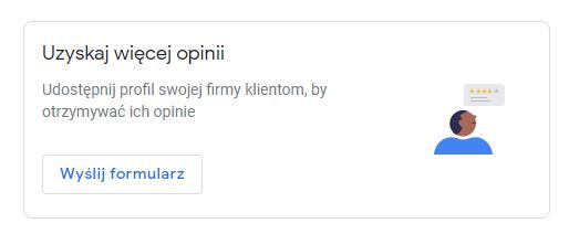 wizytówka google opinie